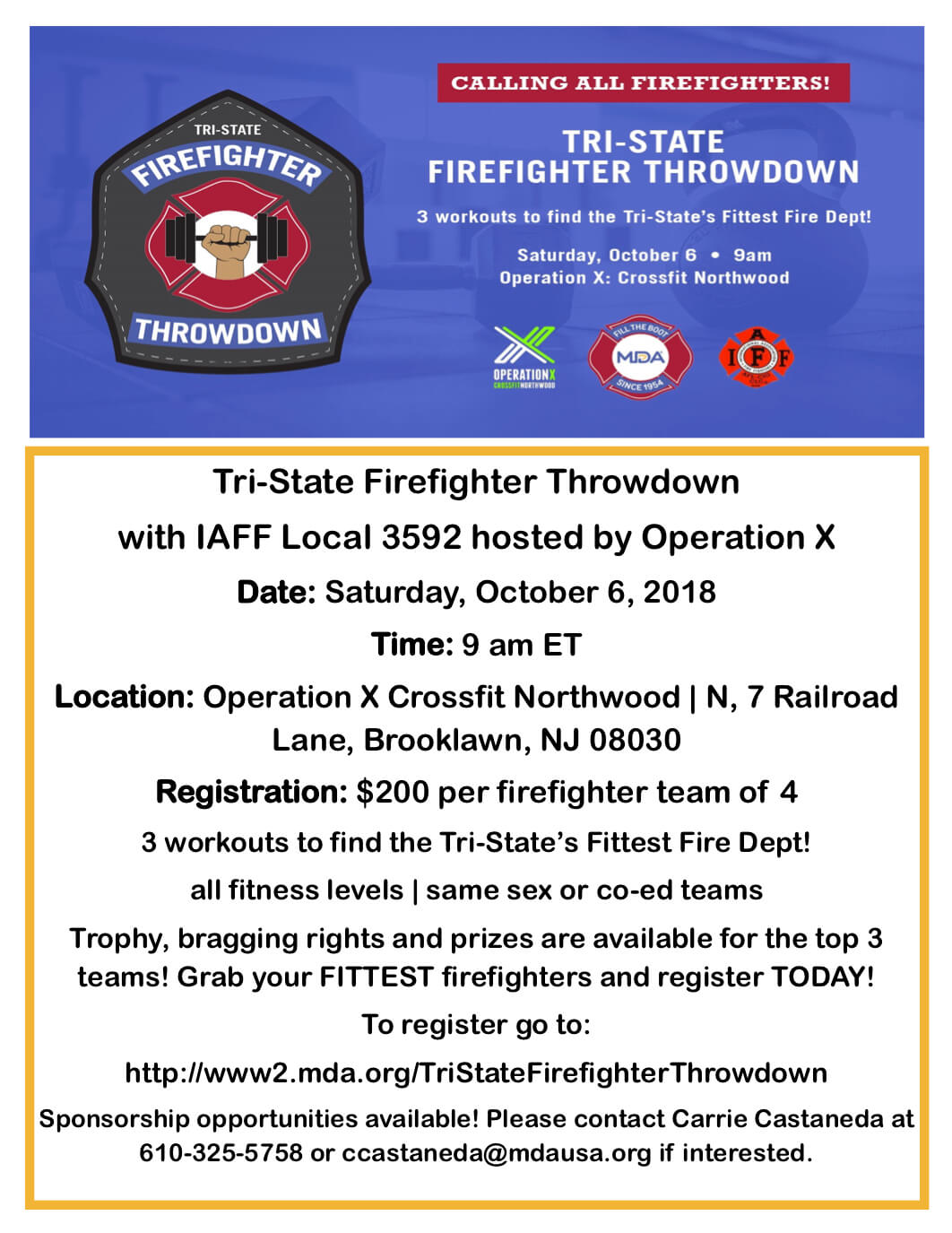 Firefighter Throwdown Flyer